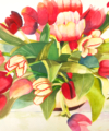 Original watercolor titled Tulip Profusion by Kay Allenbaugh