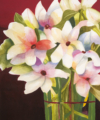 watercolor painting of white lilies by kay allenbaugh